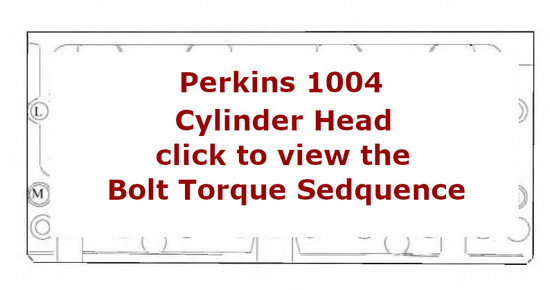 Perkins New 1000 Engines 4 cylinder head bolt torque sequence