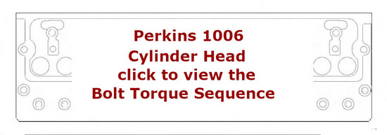 Perkins New 1000 Engines 6 cylinder head bolt torque sequence