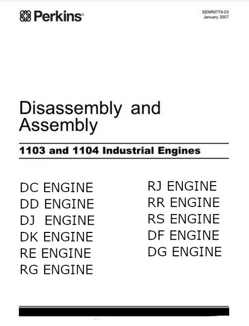 Perkins 1103 1104 assembly, disassembly 2007 manual p1