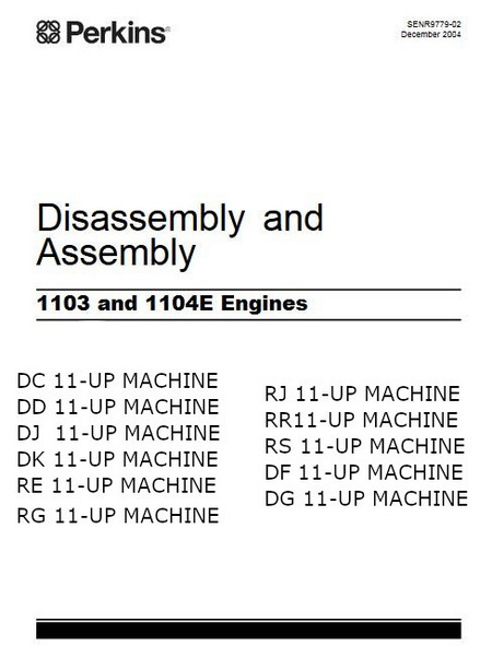 Perkins 1103E 1104E assembly, disassembly manual p1
