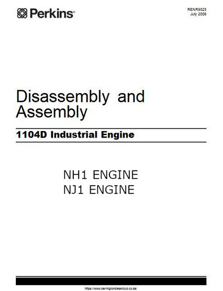 Perkins 1104D assembly, disassembly manual p1