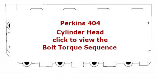 Perkins 404 Engines cylinder head bolt torque sequence