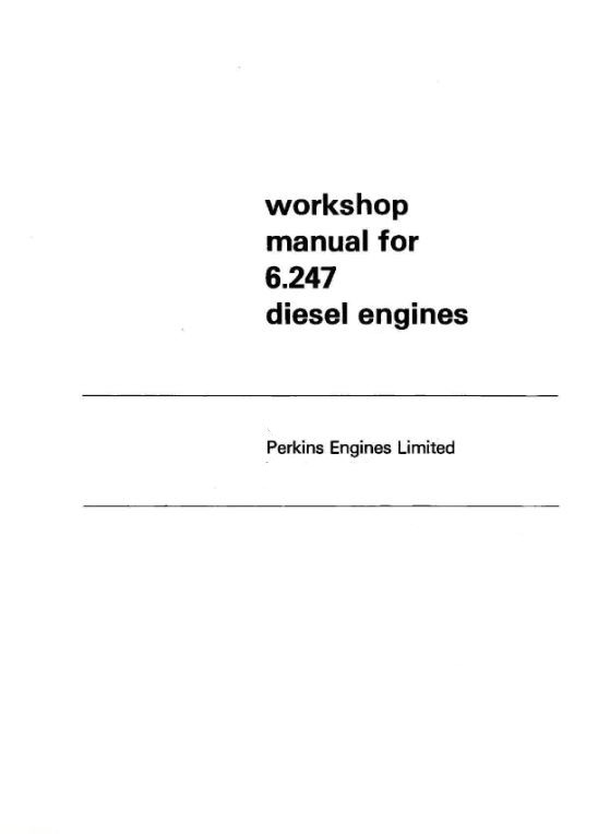 image Perkins 6.247 Workshop Manual p1