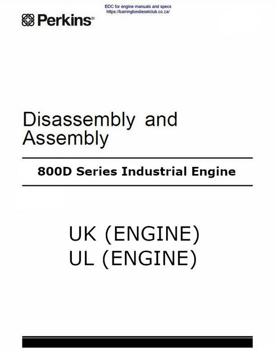 image Perkins 800D dissasembly and assembly Manual p1