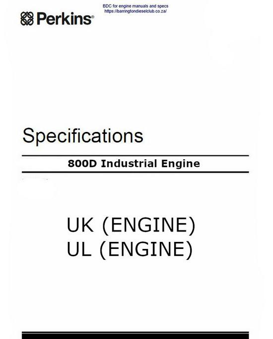 image Perkins 800D specification Manual p1