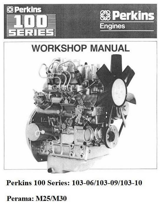 Perkins 103-06, 103-09, 103-10 workshop manual p1