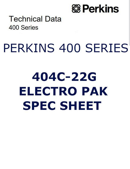 Perkins 403C, 404C specs, bolt torques, manual