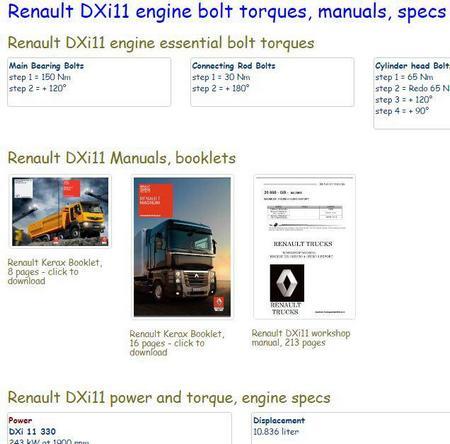 Renault DXi11 essential specs snip
