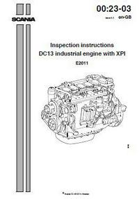 Scania DC13 Inspection Instructions manual p1