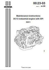 Scania DC13 Maintenance Instructions manual p1
