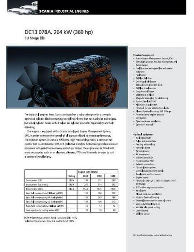 Scania DC13 spec sheet p1