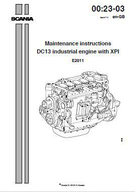 Scania DC13 Maintenance Instructions manual p1