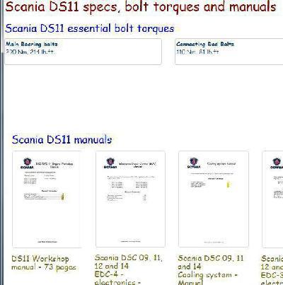 Image Scania DS11 essential specs