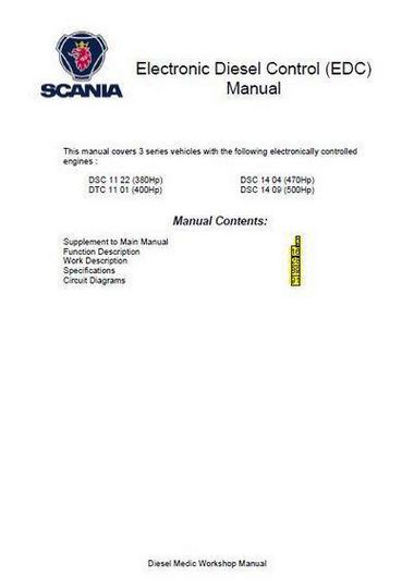 Scania DSC 09, 11, 12 and 14 EDC-3 - electronics manual p1