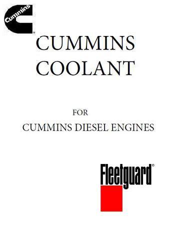Cummins engine coolants