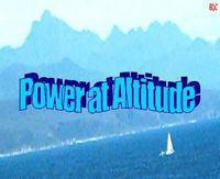 effects of altitude on engine power