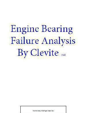 Engine Bearing Failure Analysis p1