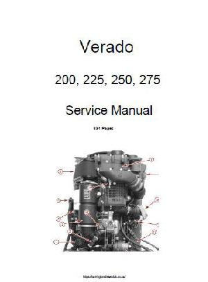 Verado 200, 225, 250, 275 workshop manual p1