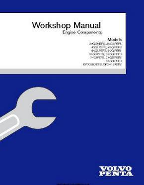 Volvo Penta 3.0 thru 8.2 engine components manual p1