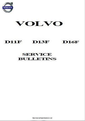 Volvo D11F, D13F, D16F Service Topics - p1