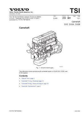 Volvo D12 workshop manual p1