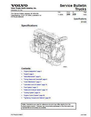 Volvo D12D specifications manual p1