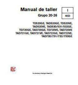 Manual de servicio del taller Volvo TAD 520 a 733 p1