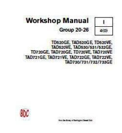 Volvo TAD 520 thru 733 workshop repair manual p1