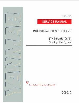 Yanmar 4NTE94, 4NTE98, 4NTE106 4NTE106 workshop manual p1