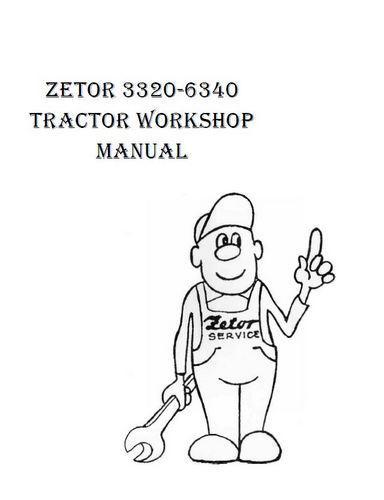 Zetor 5201 thru 7701 engine specs, workshop manual Workshop Manual p1